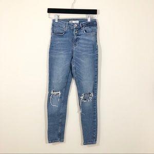 Zara Size 4 Ripped Skinny Jeans
